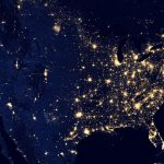 Me waving from my yard at night…taken from outer space